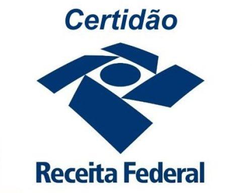 Certidão Negativa de Débitos CND – Receita Federal e PGFN